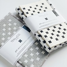 Ten & Co Gift Set - Tiny X White on Warm Grey