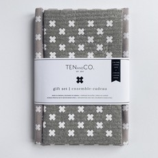 Gift Set - Tiny X White on Warm Grey