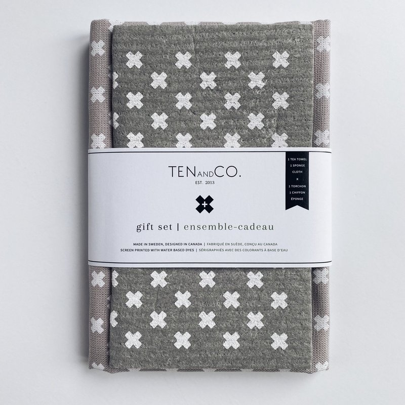 - Gift Set - Tiny X White on Warm Grey