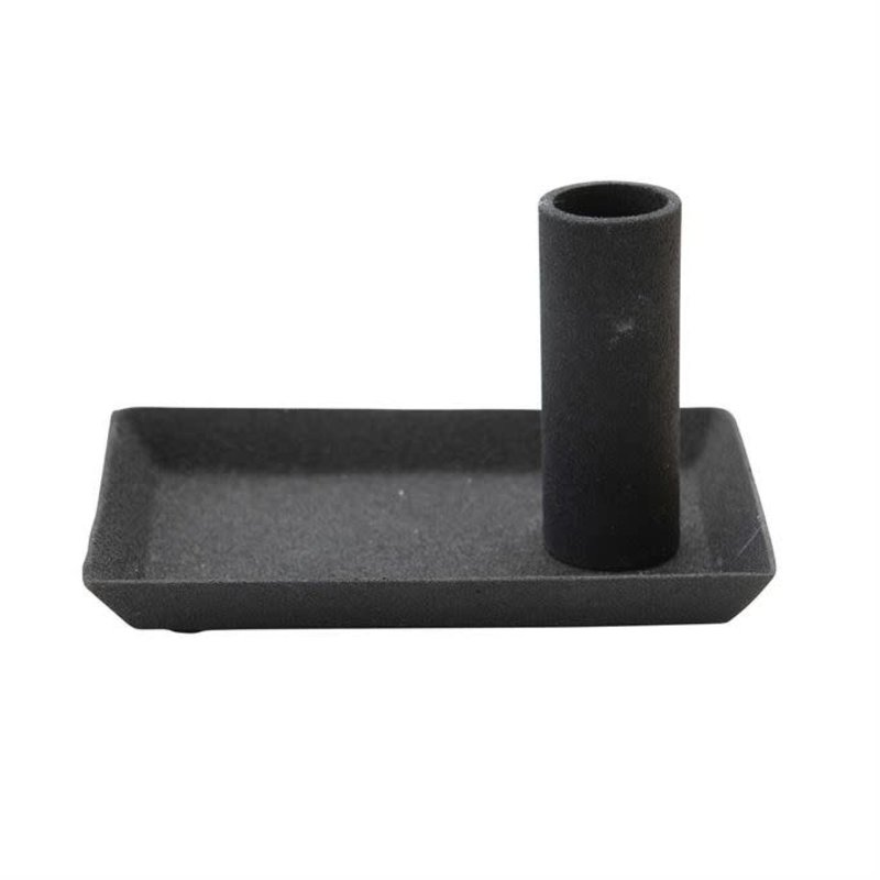 Bloomingville Textured Metal Taper Candle Holder