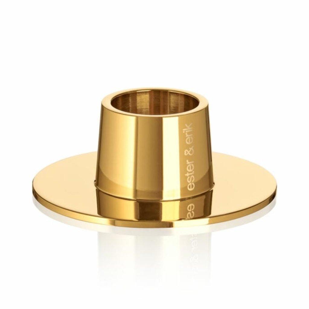 - Taper Candle Holder - Polished Brass