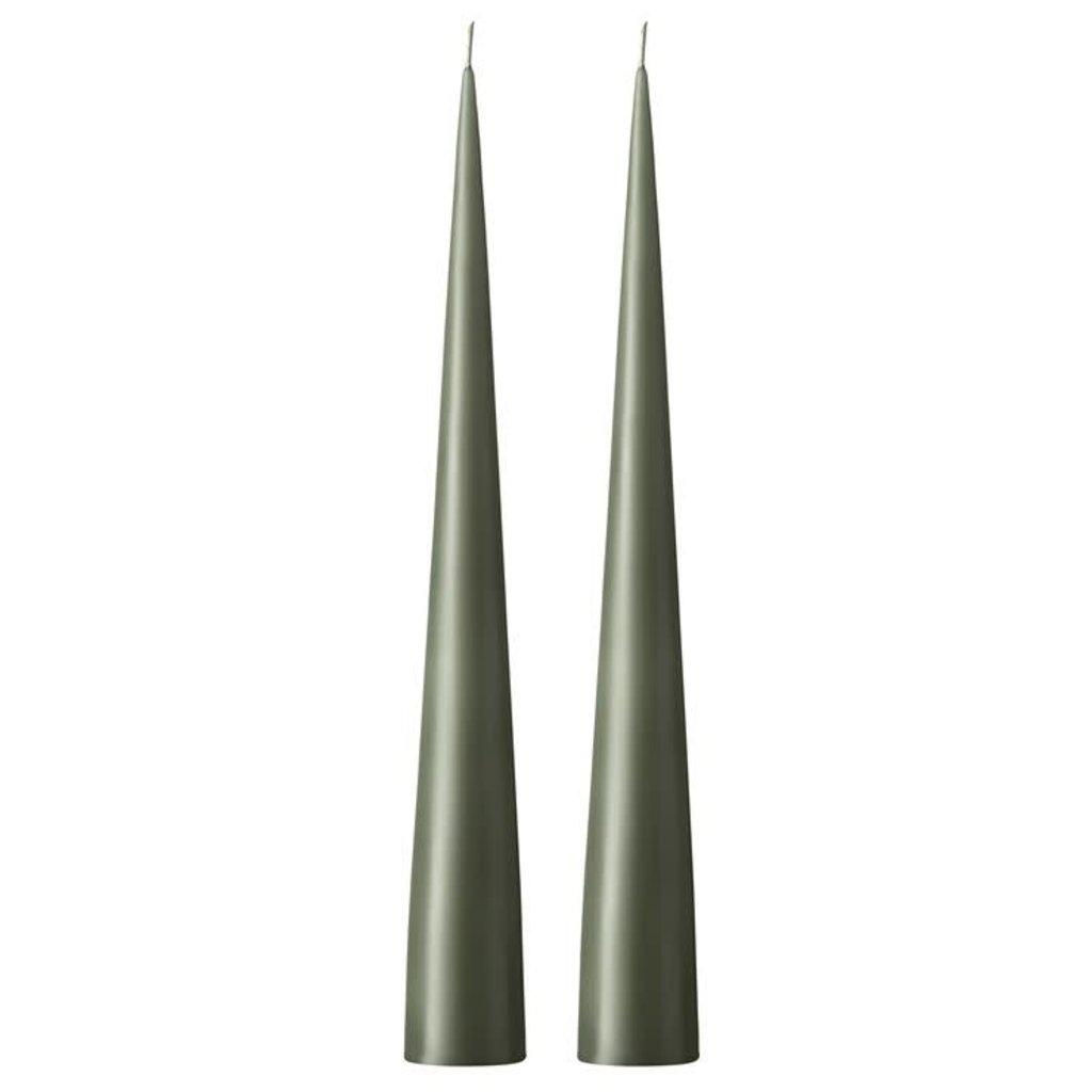 Ester&Erik Army Green 34cm Cone Candle No 70