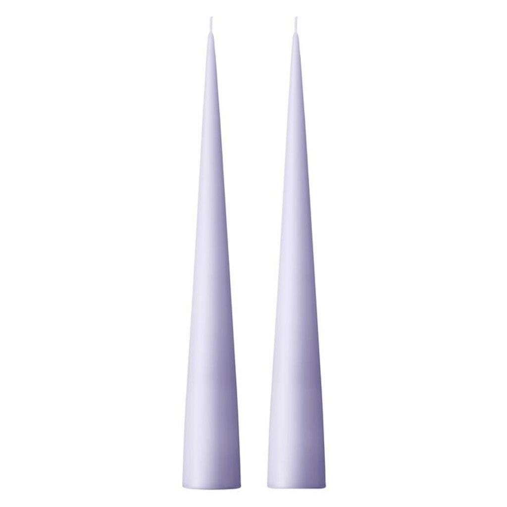 - Delicate Lilac 34cm Cone Candle No 12