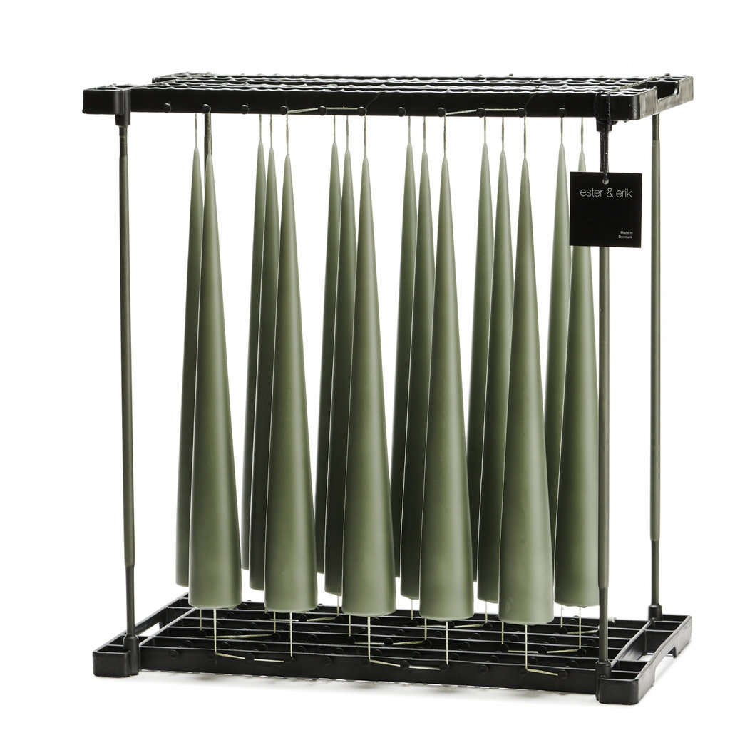 - Army Green 34cm Cone Candle No 70