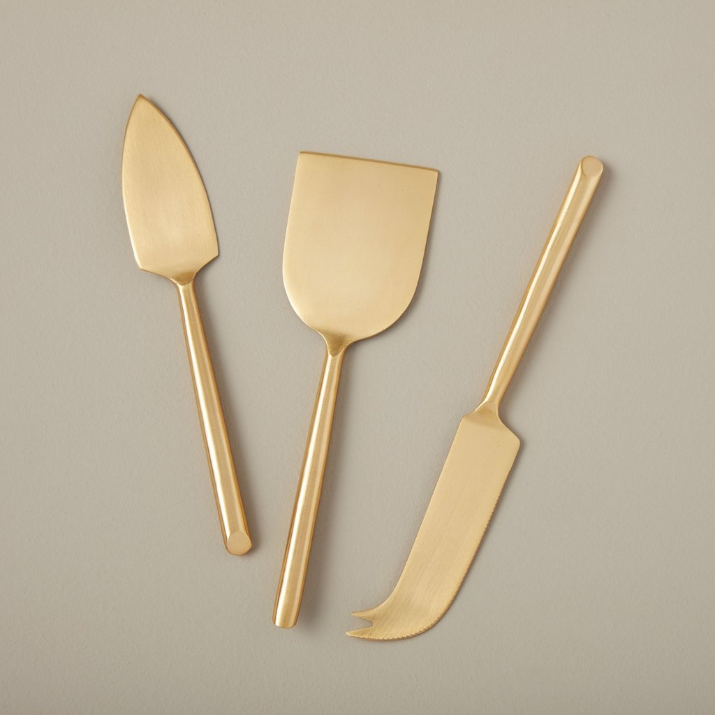 - Matte Gold cheese Set of 3