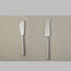 BeHome Stainless Steel Cheese Knife and Spreader Set