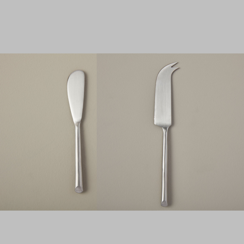 - Stainless Steel Cheese Knife and Spreader Set