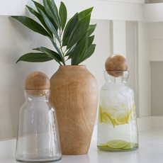- Glass and Mango Decanter-Medium
