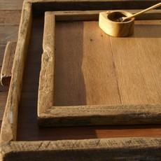 - Reclaimed Wood Tray Rectangular Large