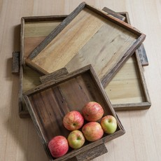 BeHome Reclaimed Wood Tray Rectangular Large