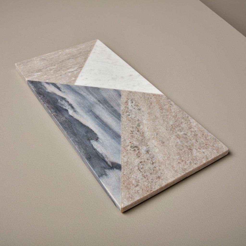 BeHome Geometric Marble Rectangular Board