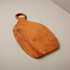 BeHome Teak Oval Board with Handle, Large