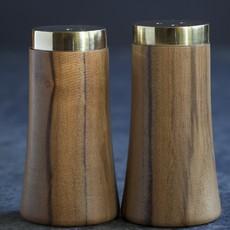 - Gold & Wood Salt & Pepper Set