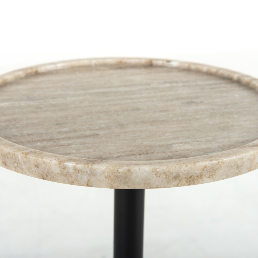 Four Hands Vola Accent Table - Antique White Marble