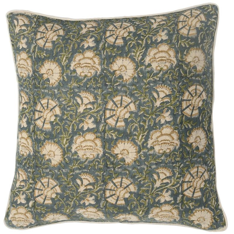 Filling Spaces Nisa Lush on Natural Pillow Cover