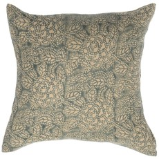 - Sicily Teal on Natural Pillow Cover
