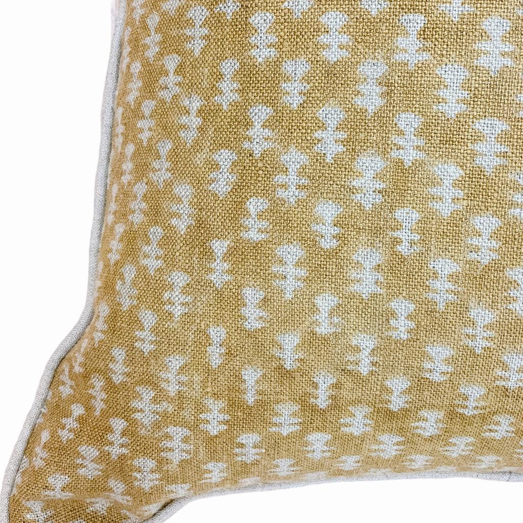 - Boti Mustard on Natural Pillow Cover