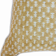 Filling Spaces Boti Mustard on Natural Pillow Cover