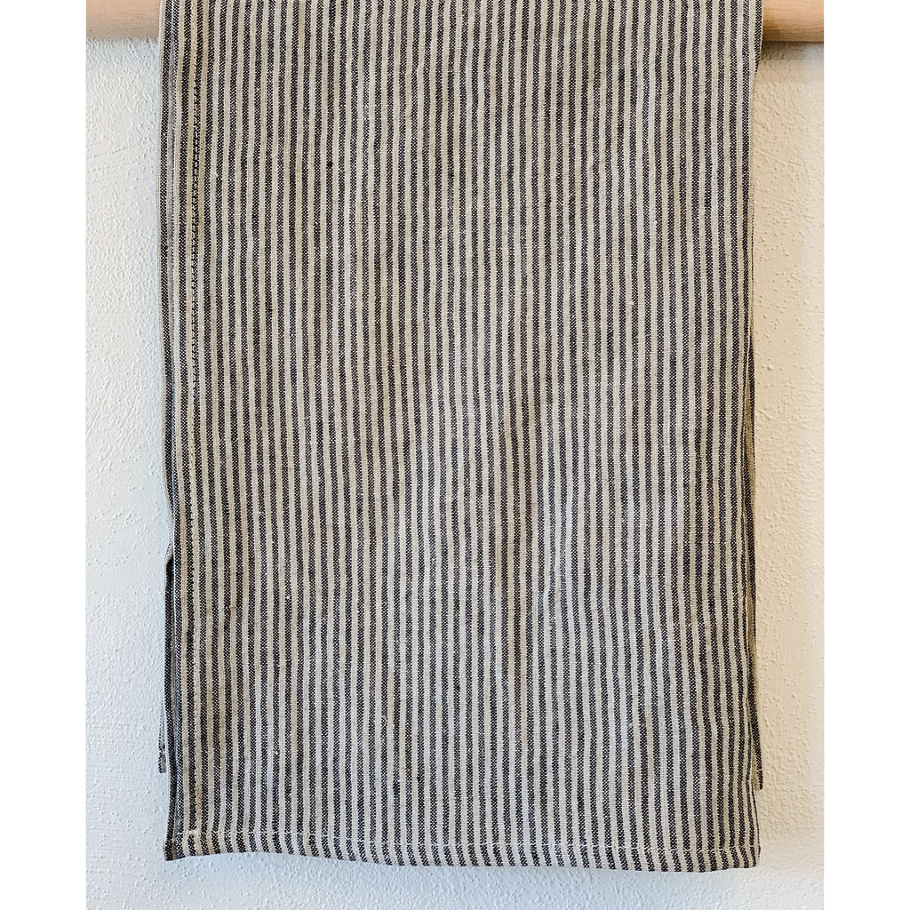 - Annex Black Stripe Linen Hand/Tea Towel