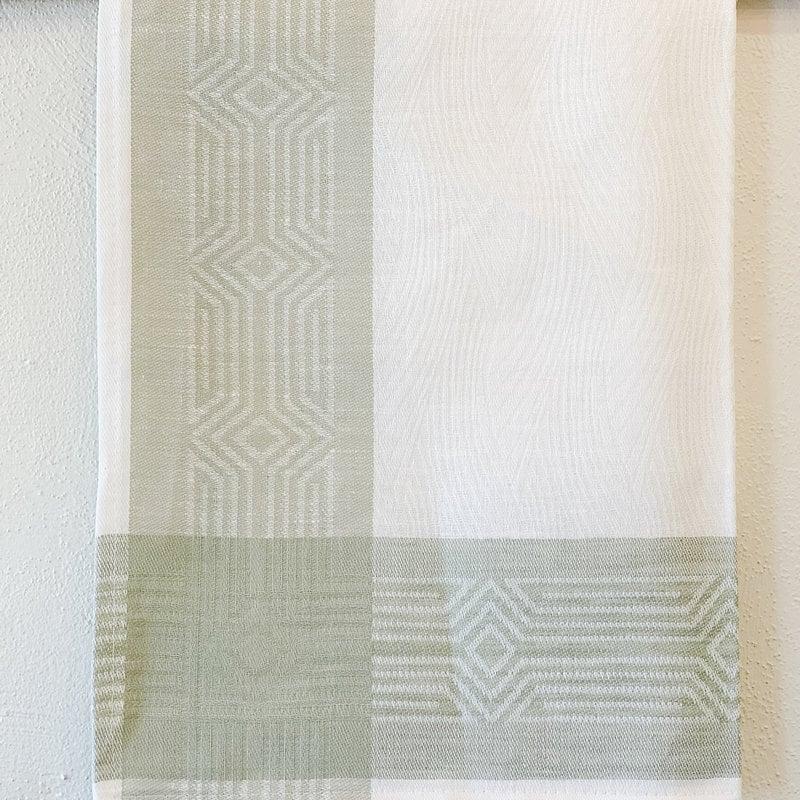 - Deco Sage Stripe Linen Hand/Tea Towel