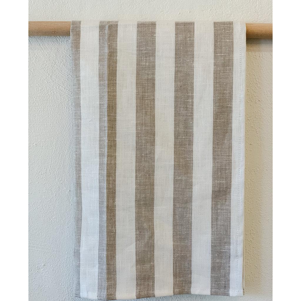 - Sandy Stripe Linen Hand/Tea Towel