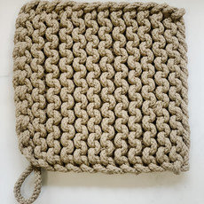 - Taupe Crocheted Pot Holder