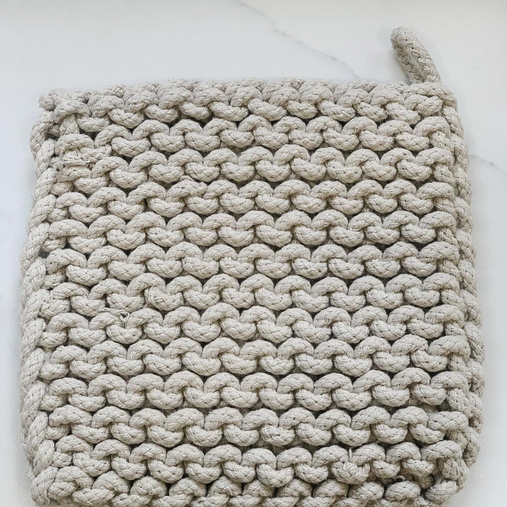- Grey Crocheted Pot Holder