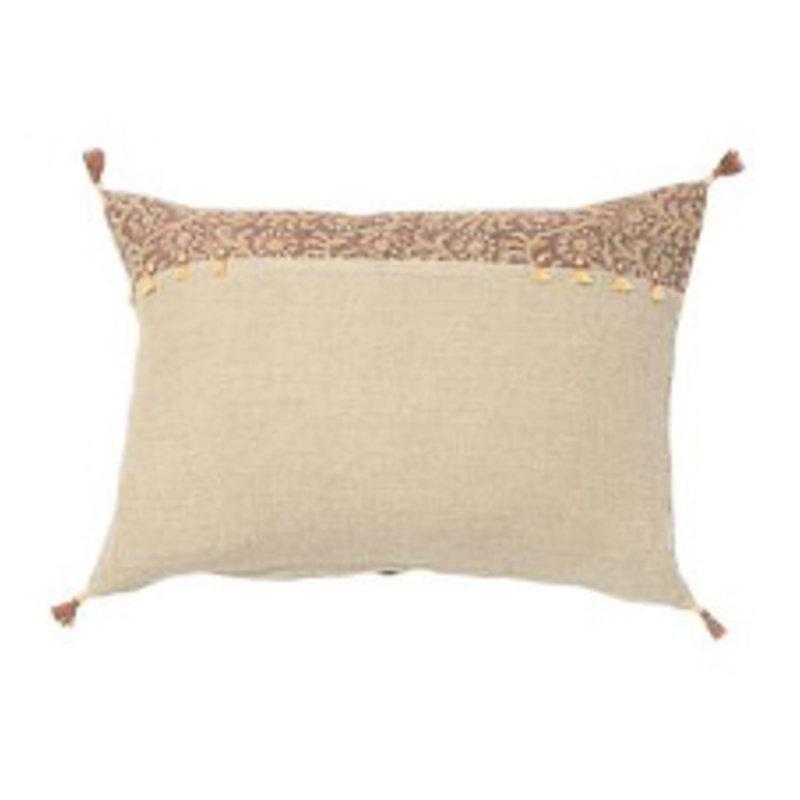 Filling Spaces Kochin Saffron on Natural Linen