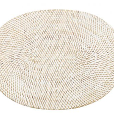 - Bali Oval Placemat - White (Set of 4)