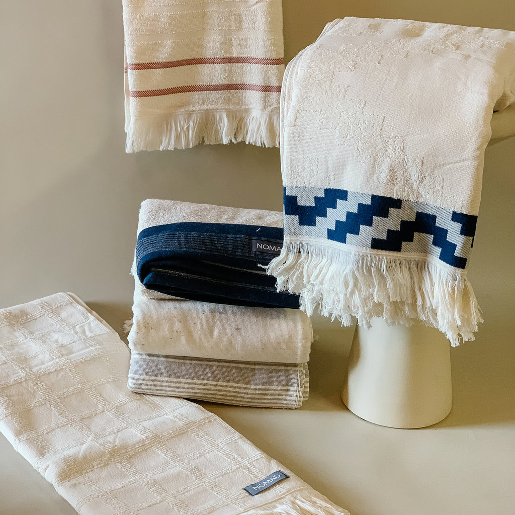 - CHECK TERRY TOWEL