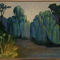 """Willows on the Paw Paw Painting 10.5"""" x 12"""""""