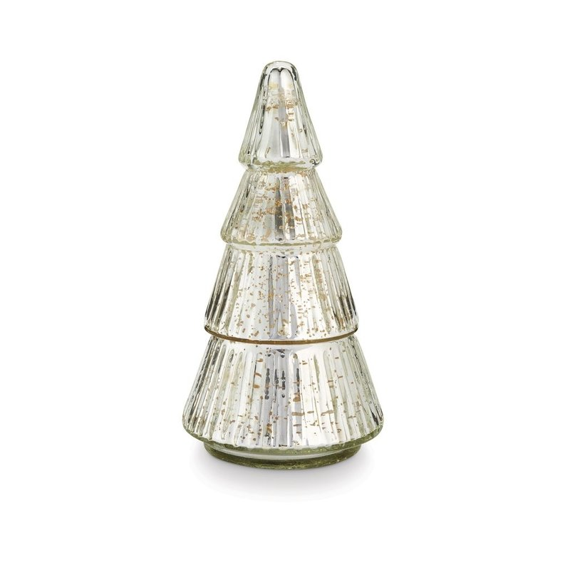 Balsam & Cedar Glass Tree Candle