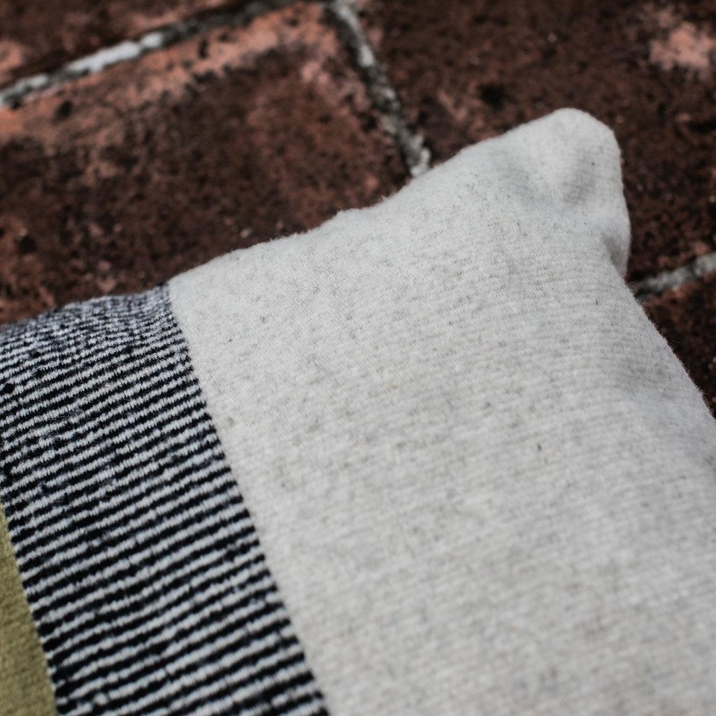 "Desert Olive Wool Pillow 18""x18"""