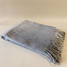 Grey Grid Alpaca/Merio Wool Throw