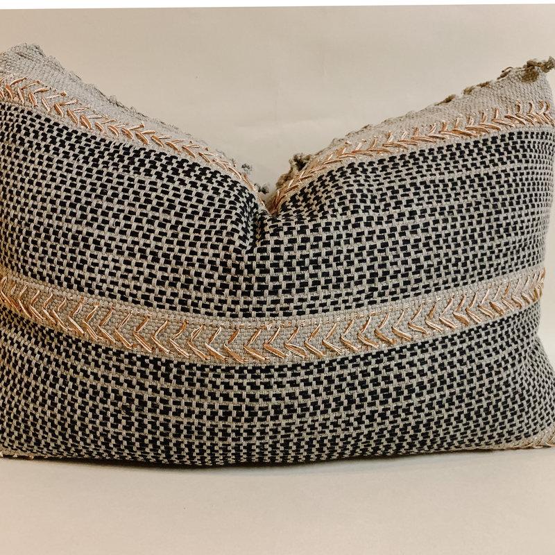 Black Cafe Lumbar Pillow