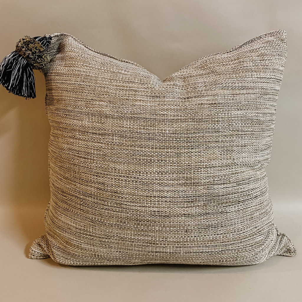 Pom Black Bone Pillow