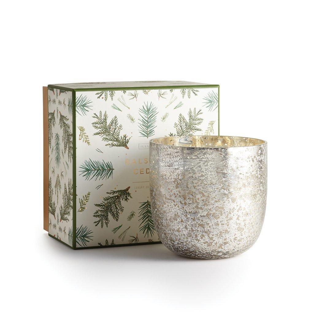 - Balsam & Cedar Large Iced Metal Candle
