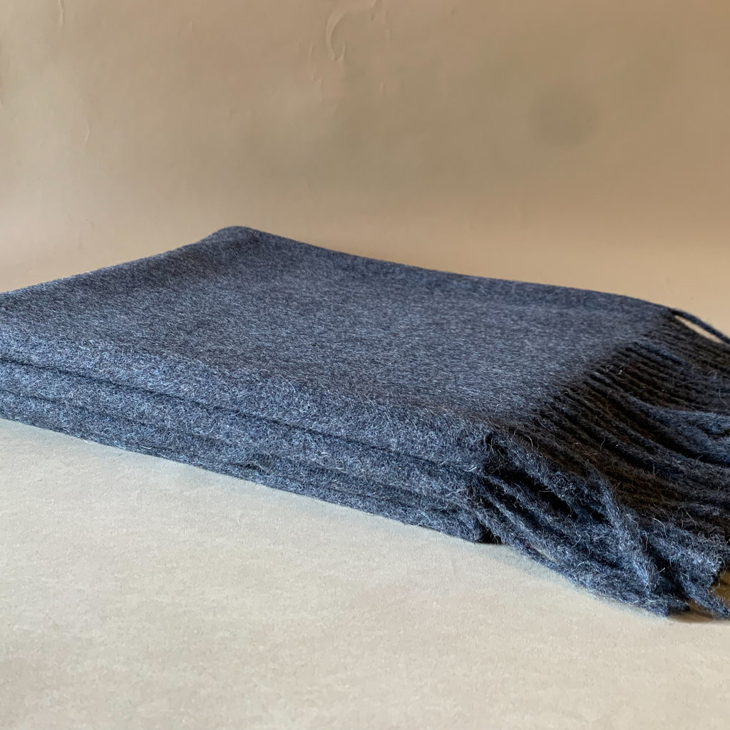 Navy  Alpaca/Merio Wool Throw