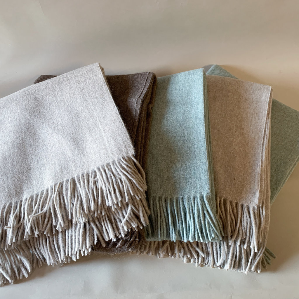 Sage Alpaca/Merio Wool Throw