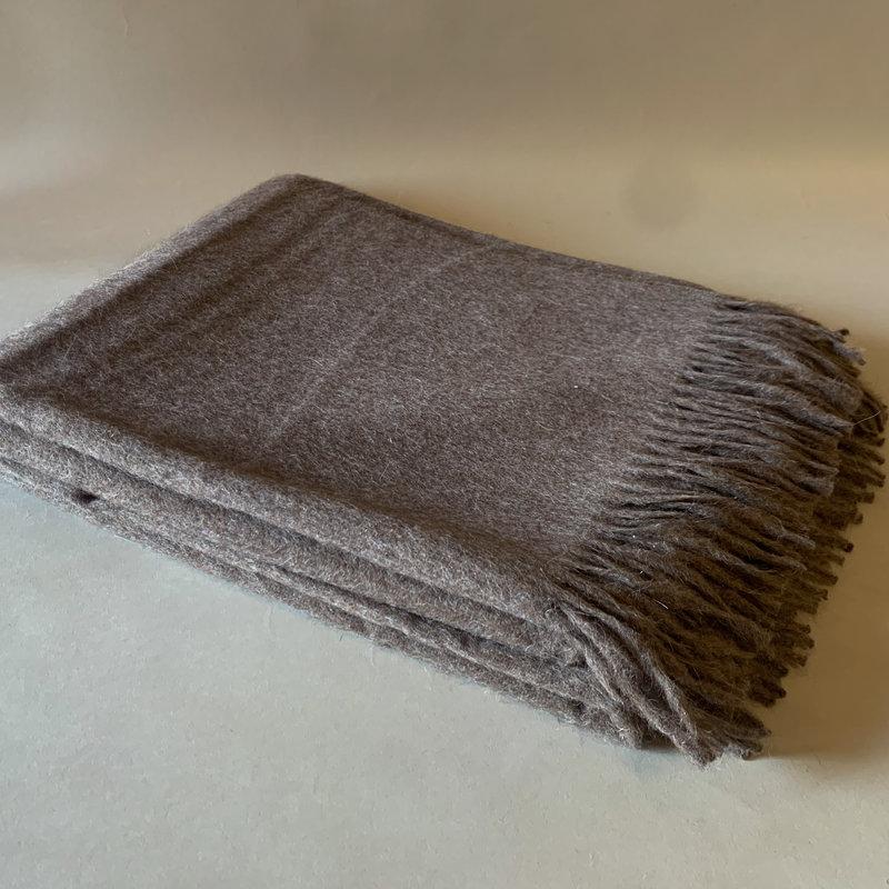 Chestnut Alpaca/Merio Wool Throw