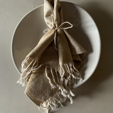 Beige Teo Cotton Napkin (Set 4)