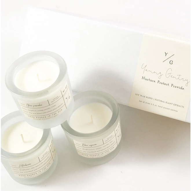 Young Gentry  Apothecary Trio Box Candles