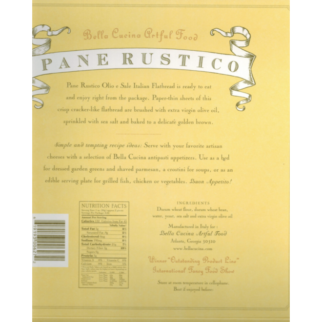 """Bella Cucina Pane Rustico """"Olio e Sale"""" 250g"""