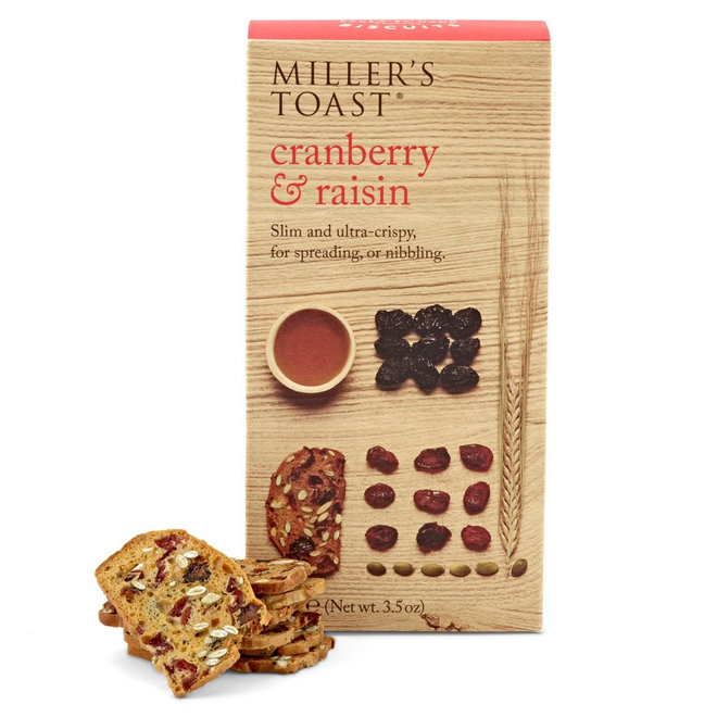 "Miller's Toast ""Cranberry & Raisin"" (3.5oz)"