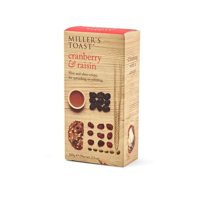 "Miller's Toast ""Cranberry & Raisin"" (3.5oz)"