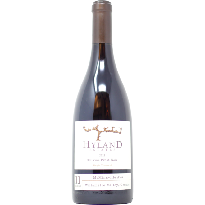 2018 Hyland Estates, Old Vine Pinot Noir, Willamette Valley, Oregon, USA