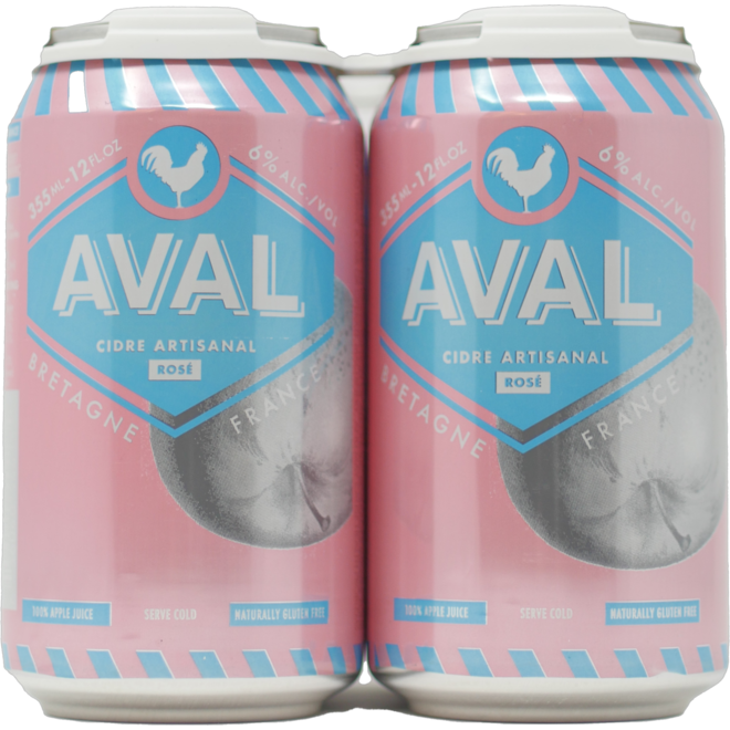 Aval cidre rose 4 pack can 355, (can format)