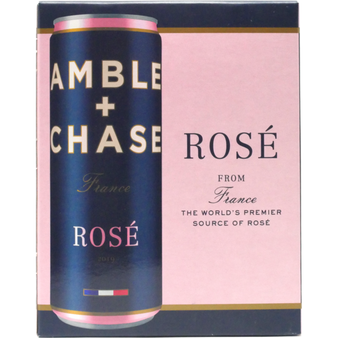 2019 Amble + Chase Rosé, Côtes de Provence, France 4-Pack (can format)