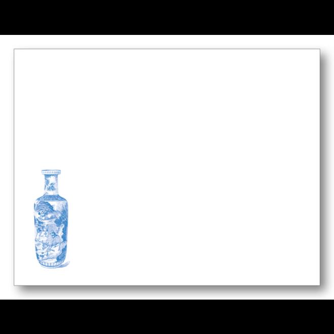 Maison de Papier Chinoiserie Vase Royal Flat Card