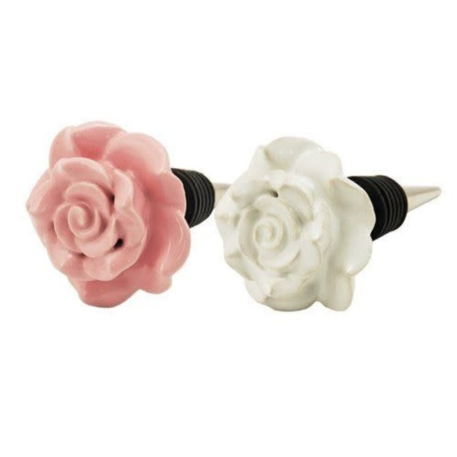 Country Cottage™ Ceramic Rose Stoppers by Twine